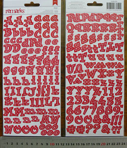 REMARKS-Flat-Letter-Stickers-RED-ISABEL-WACKY-11-25High-10-25Wide-189-Items-L2L