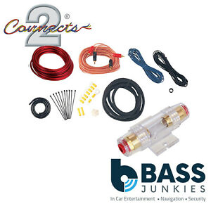 Connects2 CT35-8AWG.2 800 WATTS 8 Gauge Amplifier Amp Wiring Kit