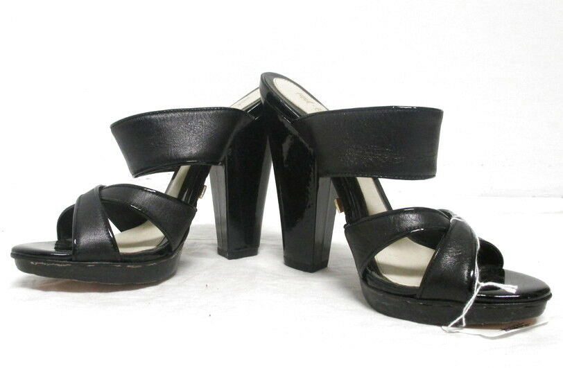 bellissimo L.A.M.B. nero leather strappy sandal heels Dimensione 7 7 7 CUTE   outlet online economico