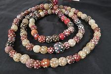 Strang antike Glasperlen 97cm Antique Venetian African Trade Eye beads Afrozip