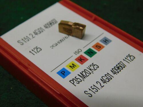 """5 Sandvik S151.24G01 409607 1125 .037/"""" Wide Carbide Cut Off Grooving Inserts"""