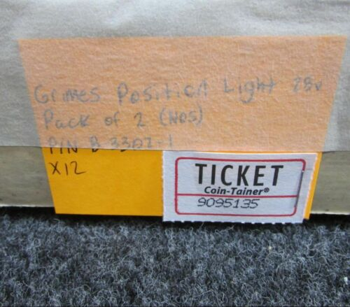 B-3307-1 Grimes Position Light 28 volt 2 pack NEW OLD STOCK