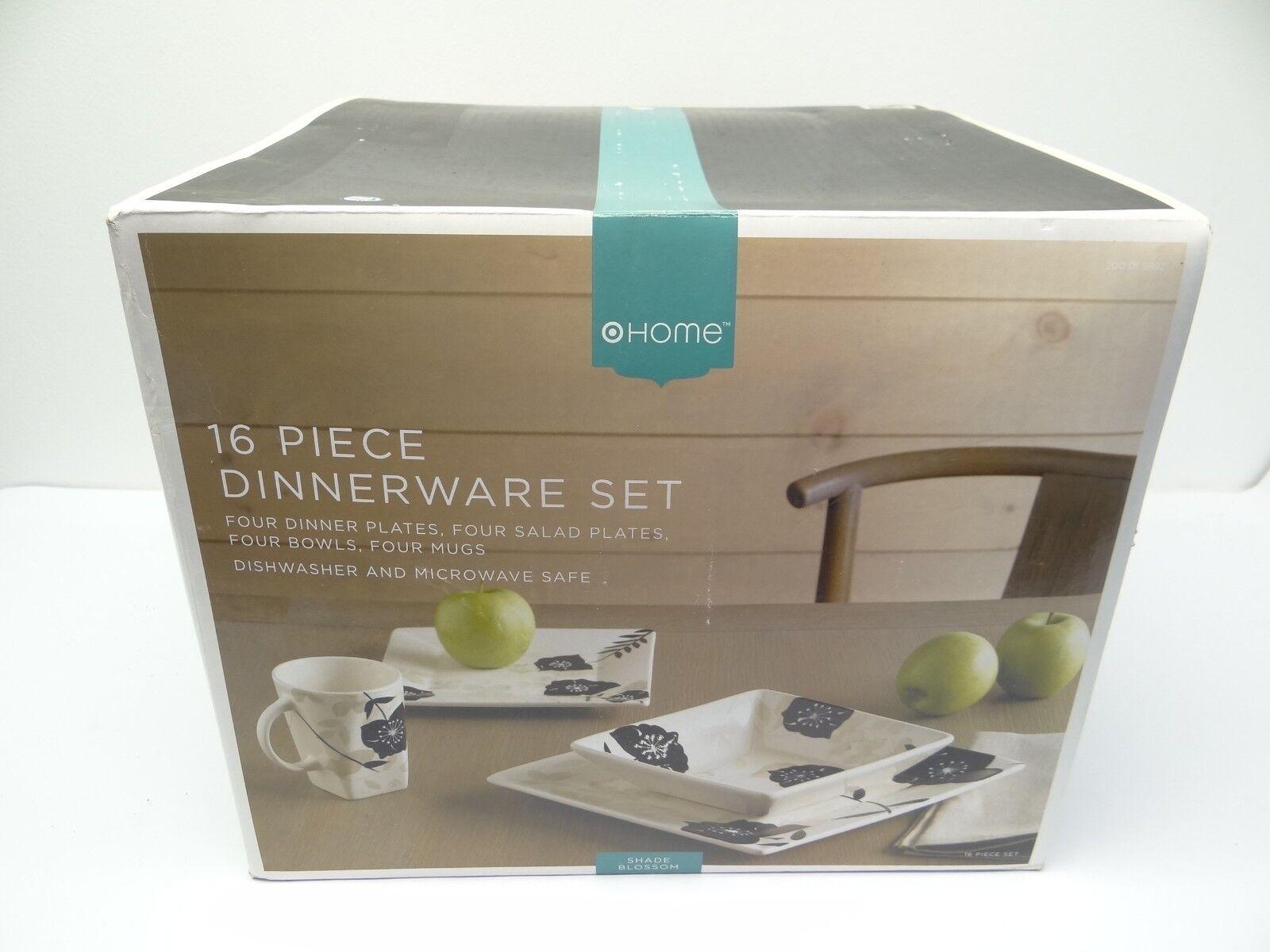 16 Pièces Service de Vaisselle Home Lave-Vaisselle   Micro-Ondable