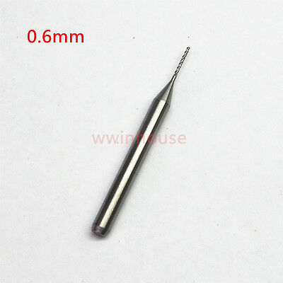 0.6mm Carbide End Mill Engraving Bits for CNC PCB Rotary Burrs 0.6mm