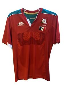 Details about Rare 2012 London Olympics. Coach Used Atletica Mexico Soccer Jersey Red Medium
