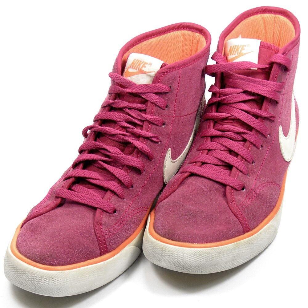 new product 392d0 18d72 nike cour chaussures salut haut en daim daim daim fuchsia formateurs  royaume uni taille 4 7a7a5c