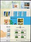 Portogallo, Azzorre - Lotto di 8 foglietti Europa, 1981/88 - Nuovi (** MNH)
