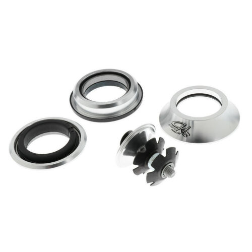"28.6mm Silver Threadless Headset 1 1//8/"" 44mm Cups Mountain Road Bike"