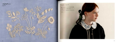 One Color Embroidery and Goods by Yumiko Higuchi Japanese Craft Book