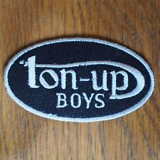 Motorcycle Biker Jacket Cafe Racer Rockers Ace Cloth Patch Badge TON UP BOYS w