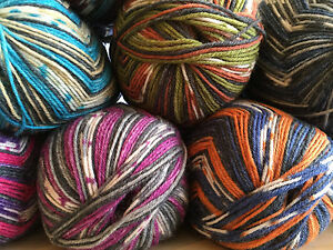 Opal-Sock-Yarn-Klangwelten-4-ply-100g-One-ball-knits-a-pair-of-socks-8-shades