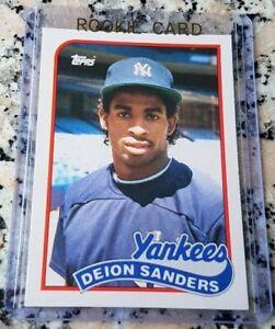 DEION SANDERS 1989 Topps Traded #1 Draft Pick Rookie Card RC Yankees $$ HOF $$