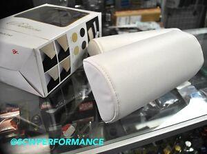 100 Authentic Bellezza Vip Car Neck Pads White Leather Jdm Interior