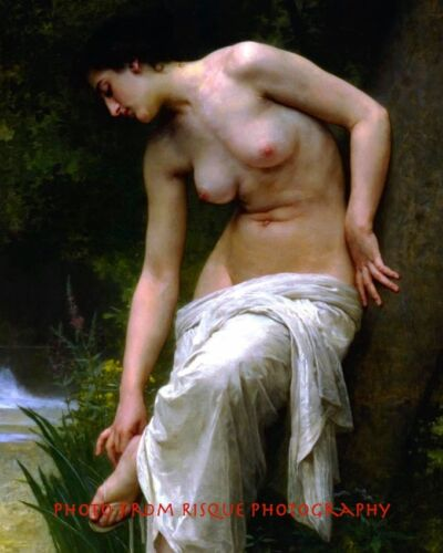 """Nude Woman After Bath 8.5x11/"""" Photo Print Naked Female Drying Bouguereau Lovely"""