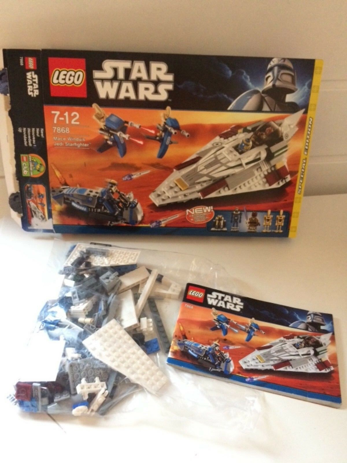 LEGO Star Wars Mace Windu' s Jedi Starfighter (7868) OVP, BA, komplett, TOP