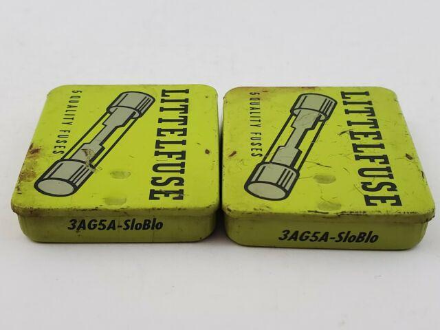 Lot Of 10 Littelfuse 3ag 5a Sb 125v 5 Amp Slow Blow Fuses Vintage