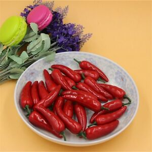 Image Is Loading 50 Pcs Realistic Mini Red Chili Peppers Fake