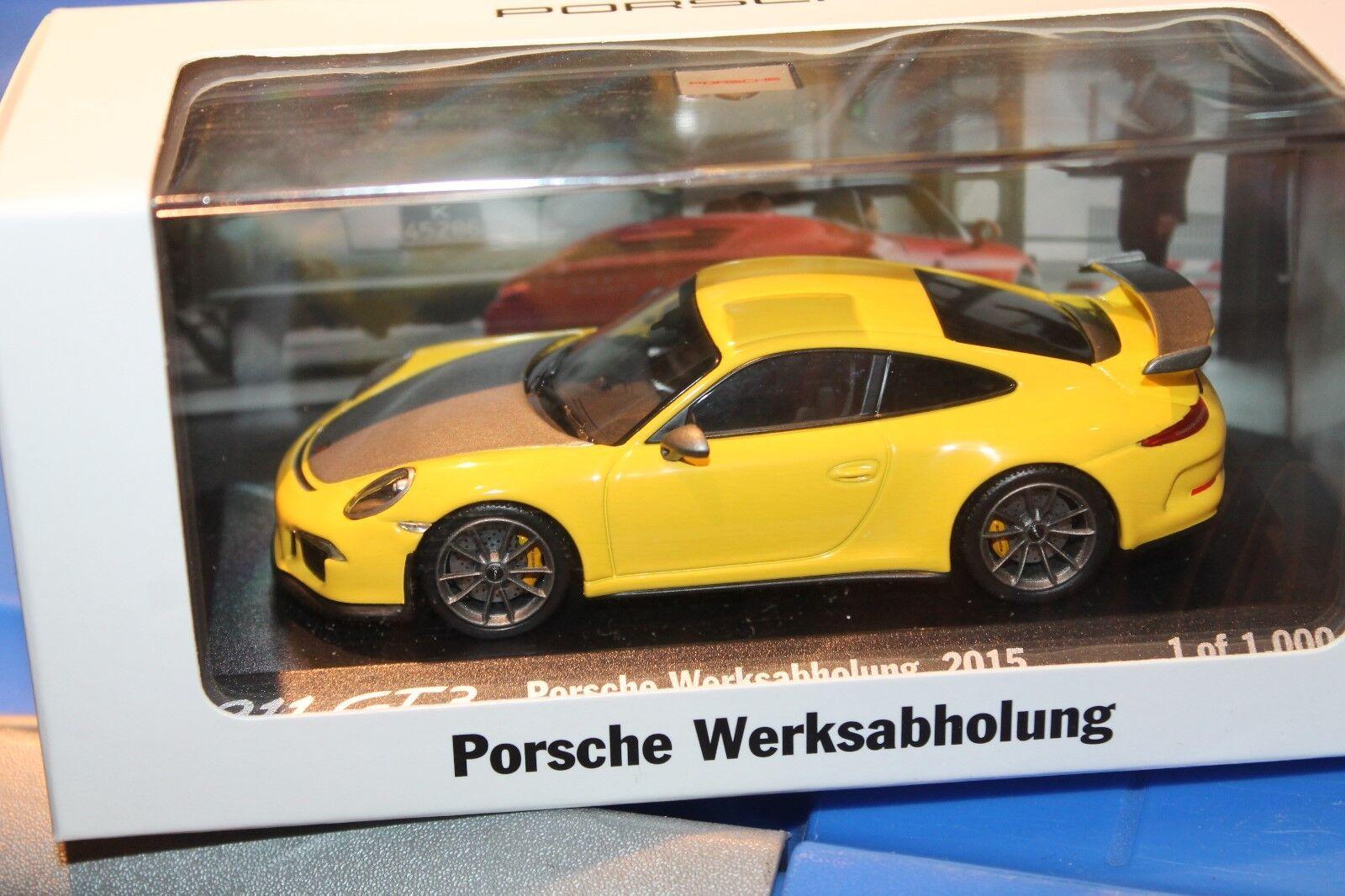 Minichamps  PORSCHE 911 gt3  2015  fabbrica ritiro  1 43  OVP  NUOVO
