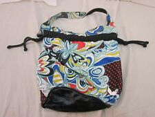 Unbranded Multicolored Floral Shoulder Bag Tote Pull String Adjustable 110531