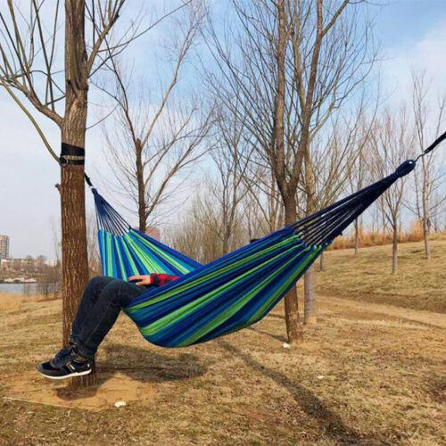 1//2Personen Hängematte Hammock Camping Garden 260*150cm 260*80cm Stabhängematte