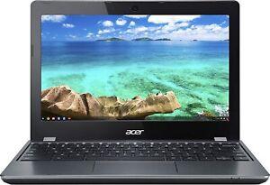 Acer C740-C4PE 11.6 Inch HD 4 GB RAM 16GB SSD Chromebook - Gray
