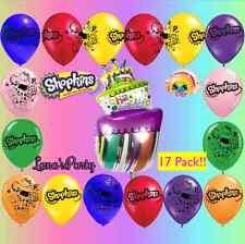 "❤ 17 Lot of Shopkins & Giant Cake 12"" Latex Birthday Party Balloon  ❤ Balloons"