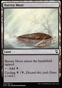 4x-Barren-Moor-NM-M-Commander-2018-Magic-MTG
