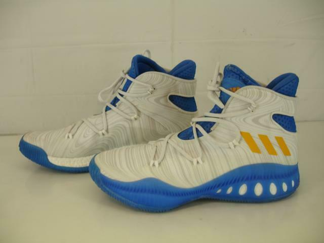 ADIDAS CRAZY EXPLOSIVE PRIMEKNIT PK UCLA BRUINS WHITE blueE gold shoes Mens sz 13