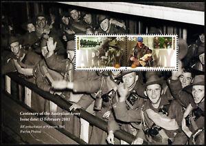 2001-100-Years-Service-Centenary-of-Army-Minisheet-ANZAC-Stamps-Mint-Australia