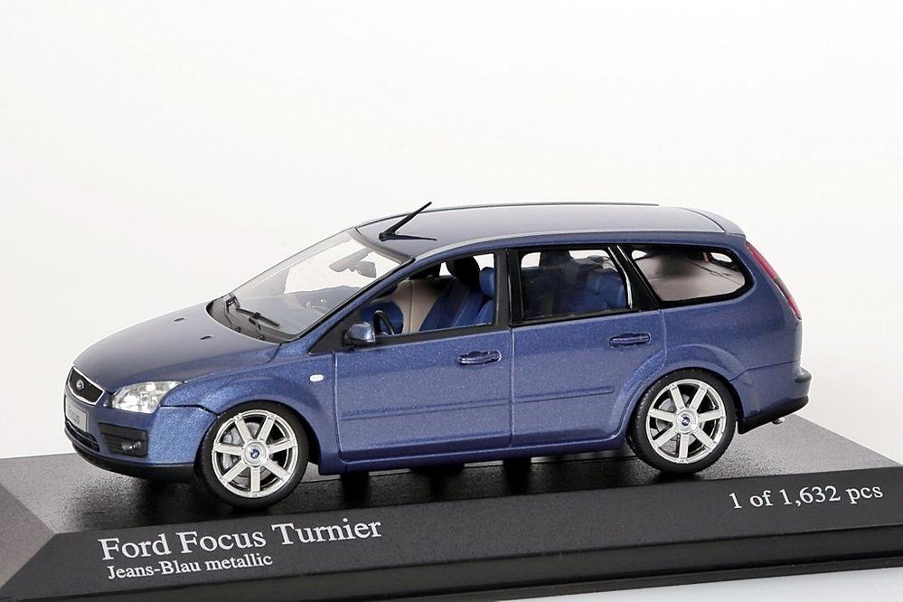 Ford Focus Tournoi 2005 bleu métallisé MINICHAMPS 1 43 Nouveau Neuf dans sa boîte