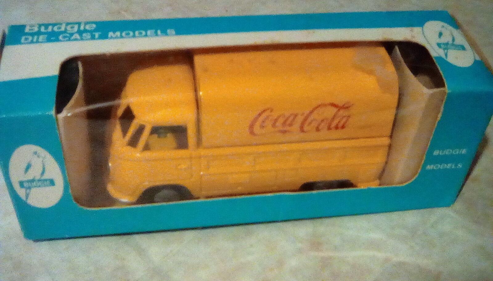Ultra Raro Budgie VW T1 entrega Van Coca Cola 1 43 giallo y rosso en Caja Como Nuevo
