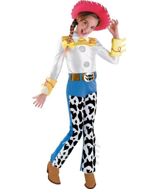 Jessie Toy Story Rodeo Cowgirl Fancy Dress Up Halloween Deluxe Child Costume