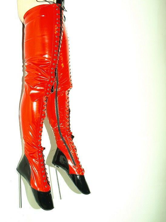 FETISH BALLET PATENT LEATHER PRODUCER- HIGH Stiefel Größe 10-16 HEELS-8,1- PRODUCER- LEATHER POLAND 4a1a71