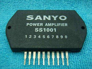 4-PIECES-SANYO-SS1001-POWER-AMPLIFIER-IC-SEMICONDUCTOR