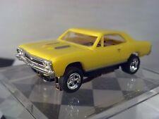MoDEL MoToRING 1967 Chevelle Yellow HO scale slot car T-jet Custome Wheels