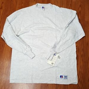 Russell-Athletic-High-Cotton-Long-Sleeve-L-S-Team-Issued-Shirt-Ash-Grey-XL-Game