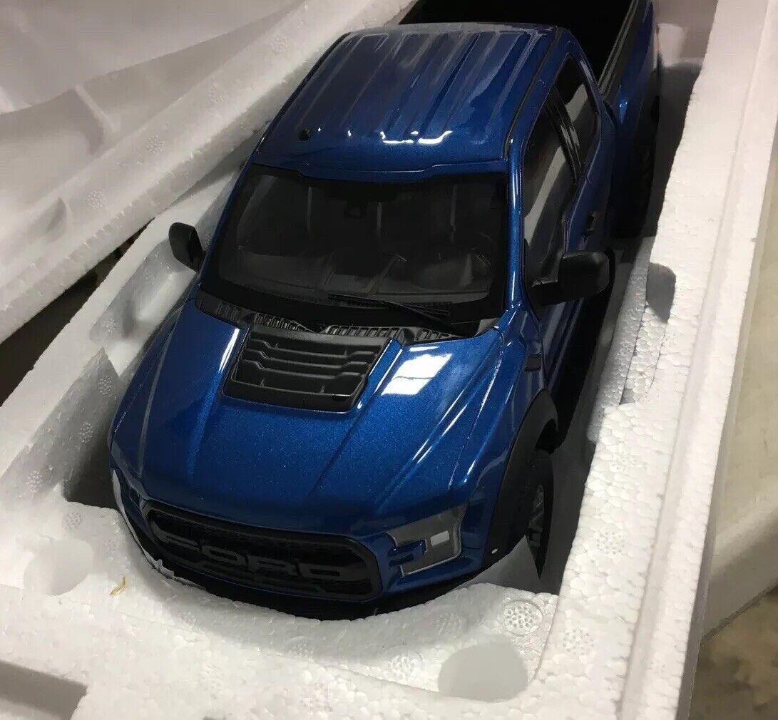 2017 Ford F-150 Raptor, bluee - GT Spirit US009 - 1 18 scale Resin Model Toy Car