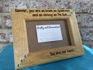 Personalised-Wooden-Photo-Frame-Daddy-You-Are-My-Superhero-039-Father-039-s-Day-Dad