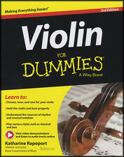 Violin for Dummies Sheet Music Book/Audio 3rd Edition Method Learn How To Play