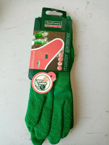 Town and Country TGL200M Master Gardener Green Ladies Gloves Medium 2 x Pairs