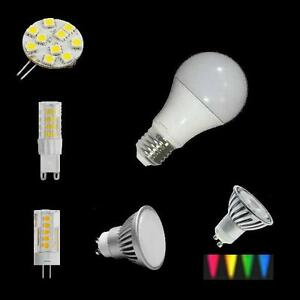 LED-Sockel-E27-G9-G4-GU10-alternativ-Gluehlampe-Halogen-12V-230V-Lampe-Birne