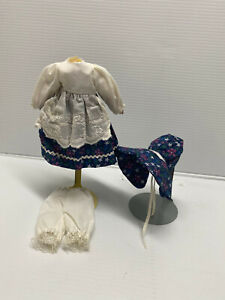 Antique-Vintage-Style-3-pc-Vintage-Style-Doll-Dress-Fashion-for-7-034-to-9-034-doll
