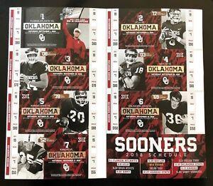 2018 Oklahoma Sooners Football Collectible Ticket Stub ...