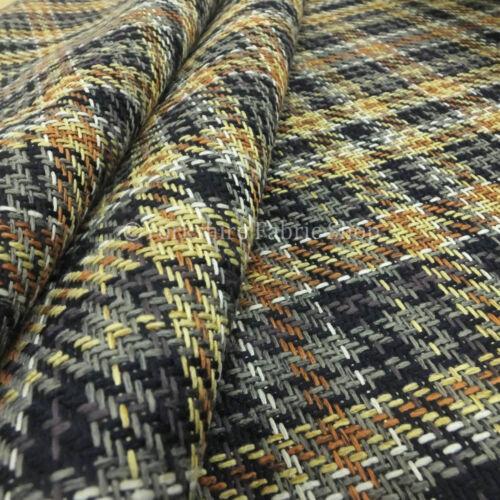 Nuevo Tejido Texturado geométricas Tartan de cuadros Chenille Tela de tapicería