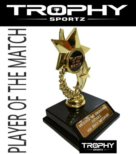 1x PLAYER OF THE MATCH Trophy Award 130mm Sport Medal FREE ENGRAVING