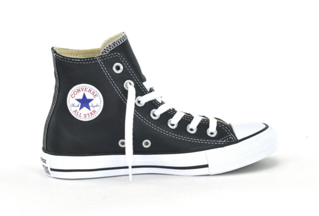 910e73a175cc00 CONVERSE CT AS HI LEATHER - BLACK WHITE - UNISEX SNEAKERS - 132170C - BRAND