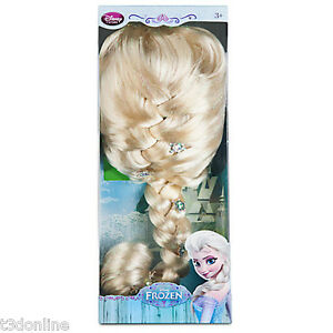 Image is loading Authentic-Disney-Frozen-Princess-Elsa-Wig-Hair-for-  sc 1 st  eBay & Authentic Disney Frozen Princess Elsa Wig Hair for Kids Costume ...