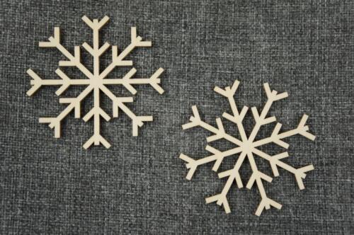 10 Stk Schneeflocke Holz Winterdeko Basteln Bemalen Dekoration Wohnen /V83/ Basteln & Kreativität
