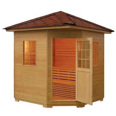 3 - 4 PERSON OUTDOOR TRADITIONAL SAUNA WITH 6kW STOVE AND FREE DELIVERY