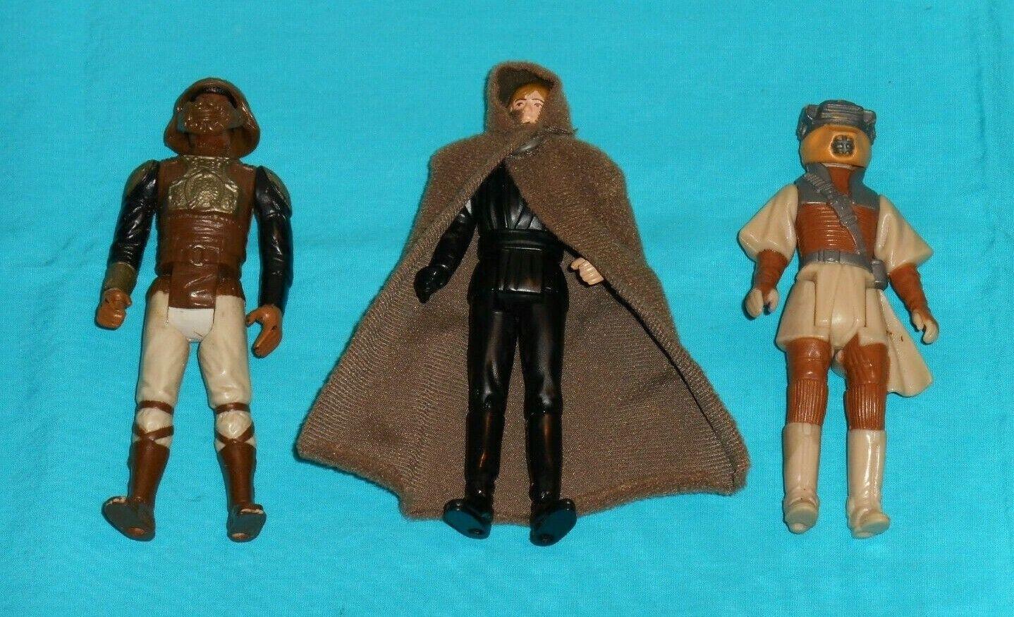 Vintage estrella guerras cifra LOT  224 Luke Jedi, Leia Boushh, Leo Skiff
